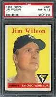 1958 TOPPS #163 JIM WILSON PSA 8 WHITE SOX  *K2364