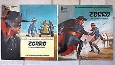 ZORRO -  Die große Langspielplatte LP mit buntem Bilderbuch Disneyland STMA 9623