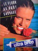 PUBLICITÉ 1984 DENTIFRICE ULTRA BRITE AU FLUOR AU GOÛT SAUVAGE - ADVERTISING