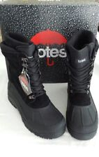 Men's Size 12 Totes Black Leather Insulated Treaded Snow Rain Winter BOOTS