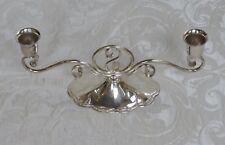 Candeliere Sheffield Candelabro 2 braccia Scandinavia Art Deco Candlestick 1950