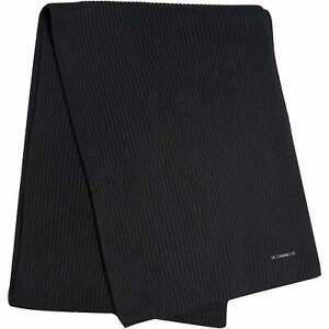 Calvin Klein Rib Knitted Cotton Men's Cashmere Scarf, Black One Size