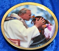 """Pope John Paul Ii Collection Seeking thy Blessing Collector Plate 8"""" numbered"""