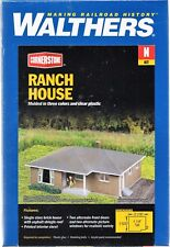 N Scale Walthers Cornerstone 933-3838 Brick Ranch House Building Kit