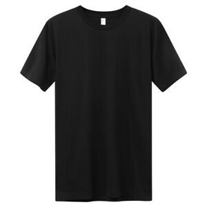American Apparel T-Shirt Unisex Basic Baumwolle Freizeit Sport schwarz