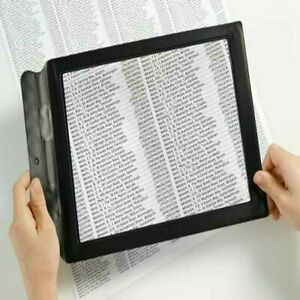 A4 Full Page 3X Magnifier Sheet Large Magnifying Glass Reading Aid Lens Big UK