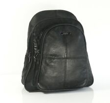LADIES REAL LEATHER BLACK BACKPACK RUCKSACK BAG SHOULDER HANDBAG 58
