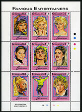 Gambia 1396 M/S, MI 1626-1634, MNH. Entertainers: Madonna, various pictures,1993