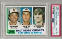 1982 Topps #21 Orioles Future Stars w/ Cal Ripken Jr. RC Rookie HOF, PSA 8 NM-MT