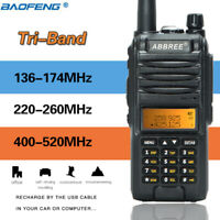 ABBREE AR-F3 Tri-band 136-174MHz 220-260MHz 400-520MHz Ham Amateur Two Way Radio