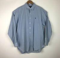 Ralph Lauren Polo Golf Lofting Button Down Blue White Check 100% Cotton Size XL