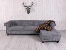 Chesterfield Sofa Vintage Ecksofa Couchgarnitur Antik Polstergarnitur Ottomane