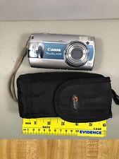 Canon PowerShot A470 7.1MP Digital Camera - Blue, w/SD card+Lowepro case