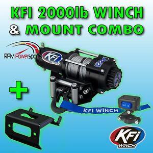A2500R2 Winch /& Winch Mount 2008-2018 Suzuki LTA400F /& LTF400F King Quad 400 KFI Combo Kit