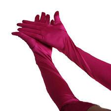 1Pair Satin long gloves opera wedding Bridal Evening party costume Gloves US