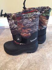 New Kamik Rocket2 Winter Snow Boots Youth Size 9 Boys Mossy Oak Camo