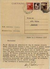 REPUBBLICA-Cartolina postale 3L(C131)+2L+3L(552+553)- 4.10.1947