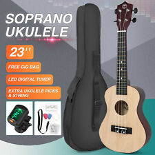 More details for 23 inch concert ukulele musical instrument gig bag, fretboard stickers beginners