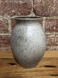 Industrial Grey vintage retro West German pottery lava Mid Century lava vase Jug