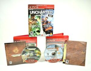 Naughty Dog - Uncharted 1 & 2 Dual Pack (Sony PlayStation 3, 2011)