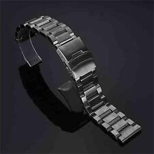 New 18 20 22 24mm Flip Stainless Steel Metal Belt Watch Band Strap Watchband