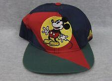 Vintage Mickey Mouse Disney Snapback Multicolor Hat Cap 100% Cotton