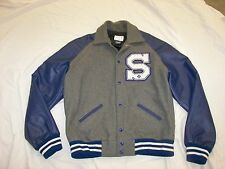 "Men's Letterman Wool Jacket - M - ""S"""