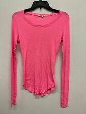 Cotton Citizen women's long sleeve t shirt barbie neon pink size S  summer time