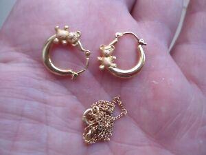 boucles d oreilles etchaine en or 18 carats 2gr66
