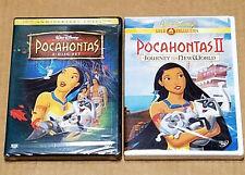 Pocahontas & Pocahontas II Walt Disney DVDs Brand New Factory Sealed