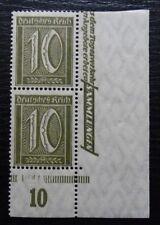 Deutsches Reich Mi 159 ** Bogenecke , Freimarken: Ziffren