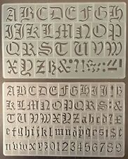 SET OF 2, 20/30mm OLD STYLE ENGLISH ALPHABET STENCILS LETTERS STENCIL P1605,1596