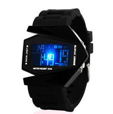 Men's Black Stainless Steel Luxury Sport Digital LED Wrist DIAL Watch Fashion