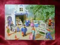 Vintage CAMBERWICK GREEN POSTCARD BBC TV #24 Roadworks outside Mr Carraways Shop