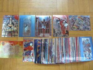 SHI Chrom Metal Foil Sammelkarten Set 1 - 90 Cards - Comic Images DC Marvel