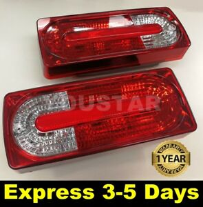 USA STOCK X2 CRYSTAL Clear & Red Facelift Rear Tail Lights Mercedes W463 G Class