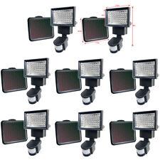 8 PACK 60 SMD LEDs Black Solar Powered Motion Sensor Security Light Flood 80 100