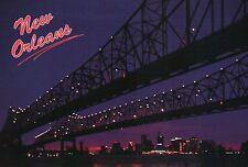 Crescent City Connection, Greater New Orleans Bridge, Louisiana, River  Postcard