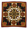 """AMAZING BLACK&RED SCARF 100% SILK BAROQUE PRINT 36""""/37"""" EXCELLENT CONDITION"""