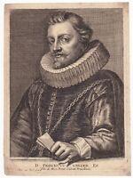 Portrait XVIIe Franciscus Van Der Ee Anton Van Dyck Joannes Meyssens Bruxelles