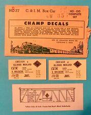 Champ Train Decals- HO-OO Scale -Chicago & Illinois Midland- Box Car- #HC-37