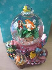 Disney Little Mermaid Ariel Snowglobe Under the Sea Original Box 3 Mini Globes