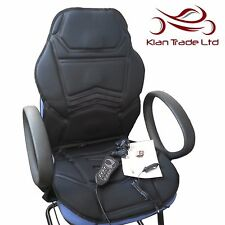 Massage Heated Seat Cover Topper Chair Cushion Home Office Car Relaxing Massager