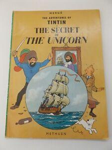 1975 TINTIN The Secret of the Unicorn HERGE English Version CARTOONS Methuen