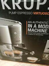 Krups Espressomaschine Virtuoso Edelstahl, automatisch, kompakt, 2 Tassen, Dampf