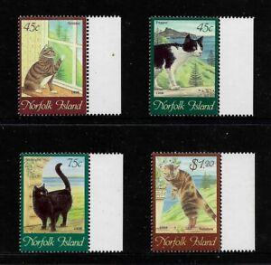 NORFOLK ISLAND 1998 Cats, No.5, mint set of 4, MNH MUH