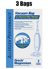 (3) Hepa Odor Fighting Vacuum Bags For Oreck Magnesium LW100