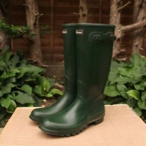 Mens Barbour Town & Country Wellington Boots Green Size 11 UK/46 EU like hunter