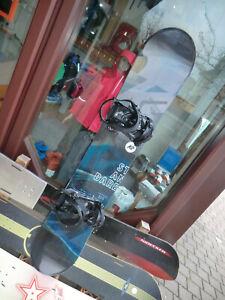Gebrauchtes Snowboard mit Bindung, 155 cm lang STANDARD von K2