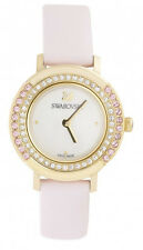 Swarovski Playful Mini Mother of Pearl Dial Leather Pink Watch 5261462